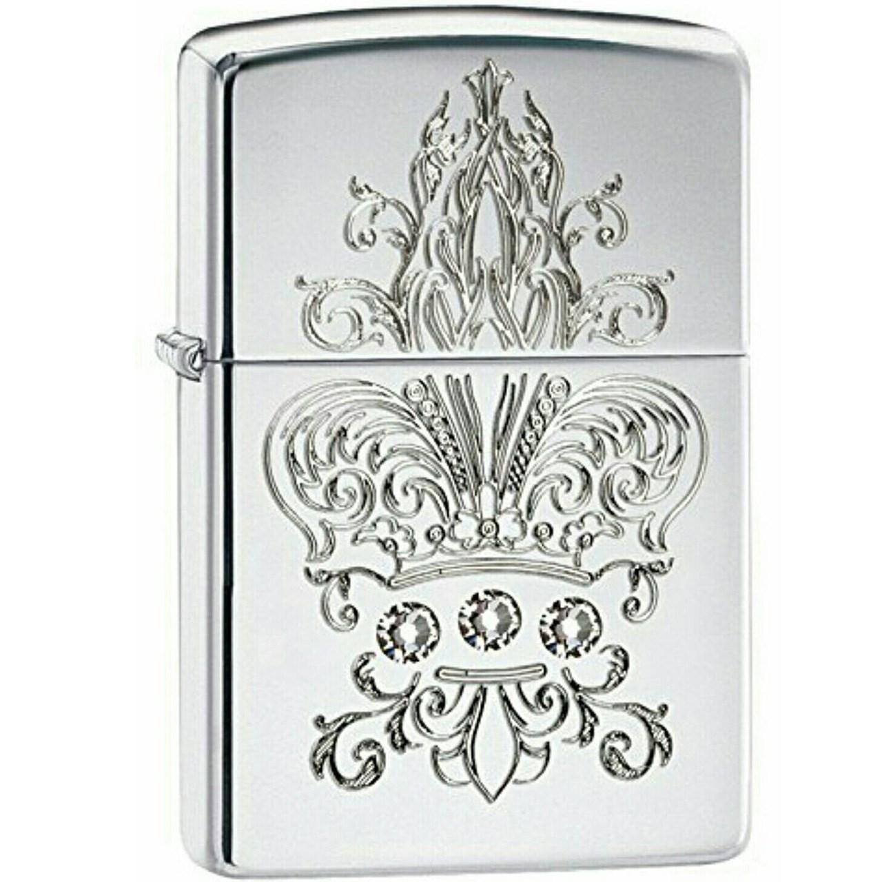 فندک زیپو مدل Crown Fleur De Lis کد 28805