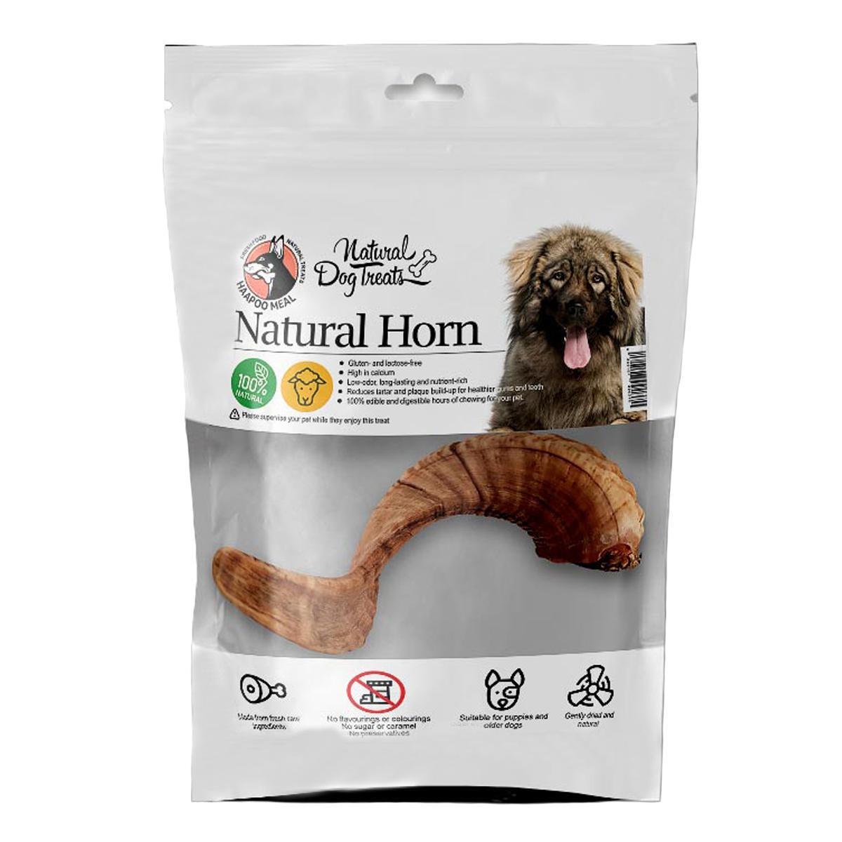 تشویقی سگ هاپومیل مدل Natural Horn کد 04 وزن 100 گرم