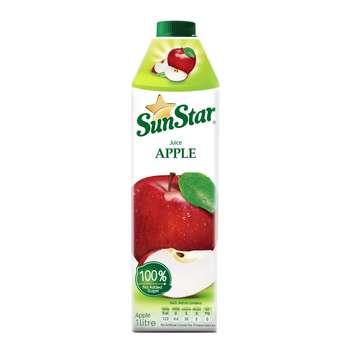 آبمیوه طبیعی سیب سان استار حجم 1 لیتر
