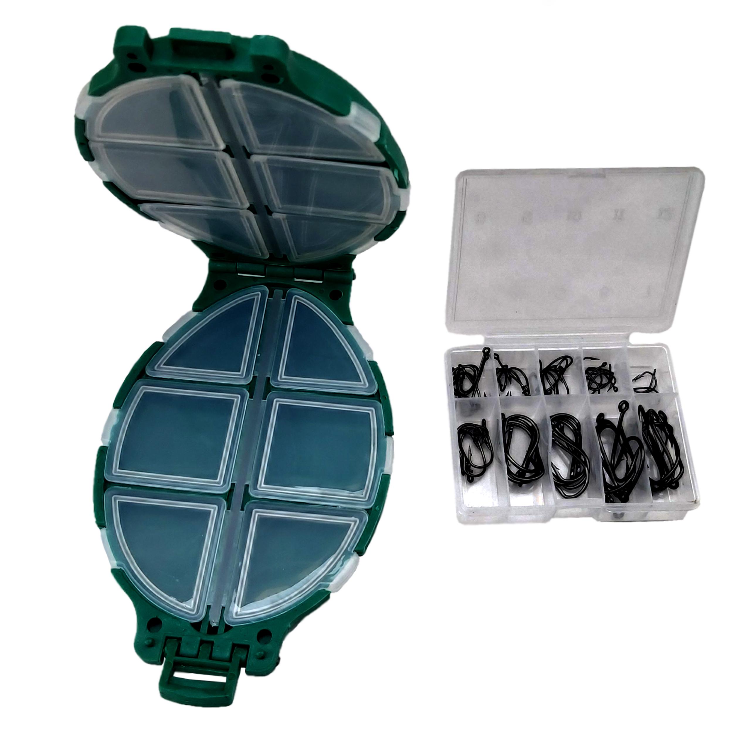 جعبه و قلاب ماهیگیری مدل HA-700 بسته 70 عددی