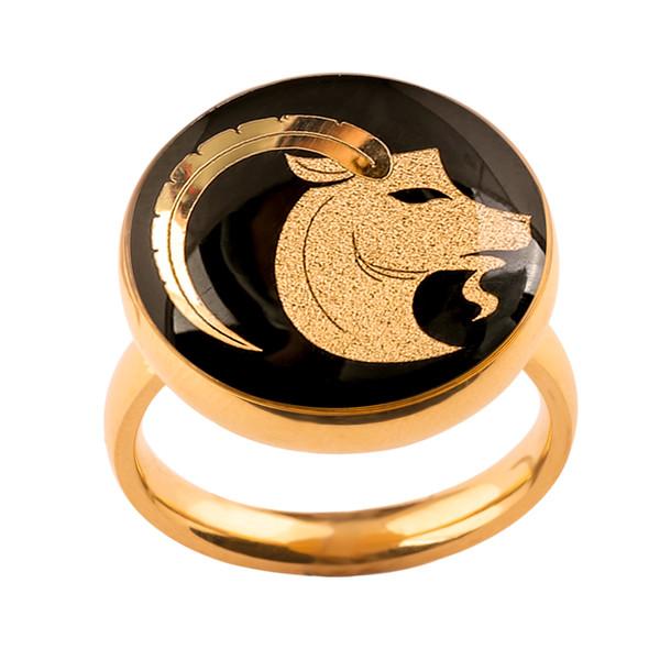 انگشتر طلا 24 عیار زنانه الون طرح نماد دی