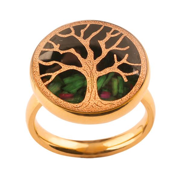 انگشتر طلا 24 عیار زنانه الون طرح درخت زندگی