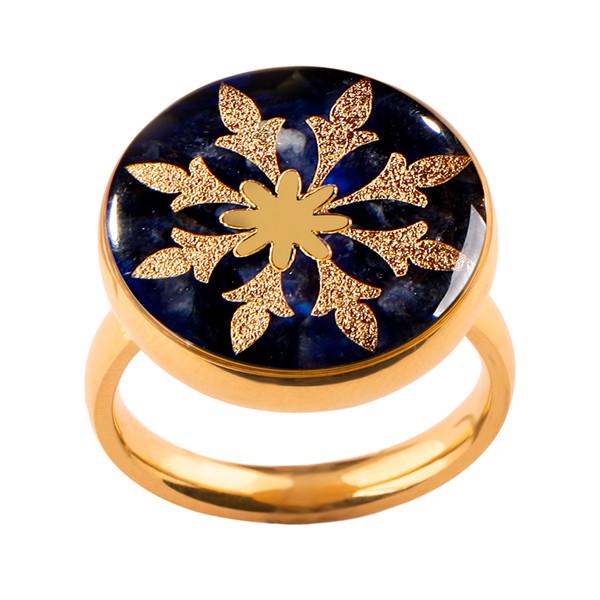 انگشتر طلا 24 عیار زنانه الون طرح هشت پر