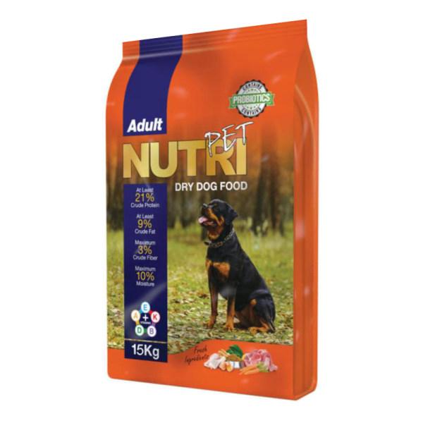 غذای خشک سگ نوتری پت مدل Adult 21 Percent PROBIOTICS وزن 15 کیلوگرم