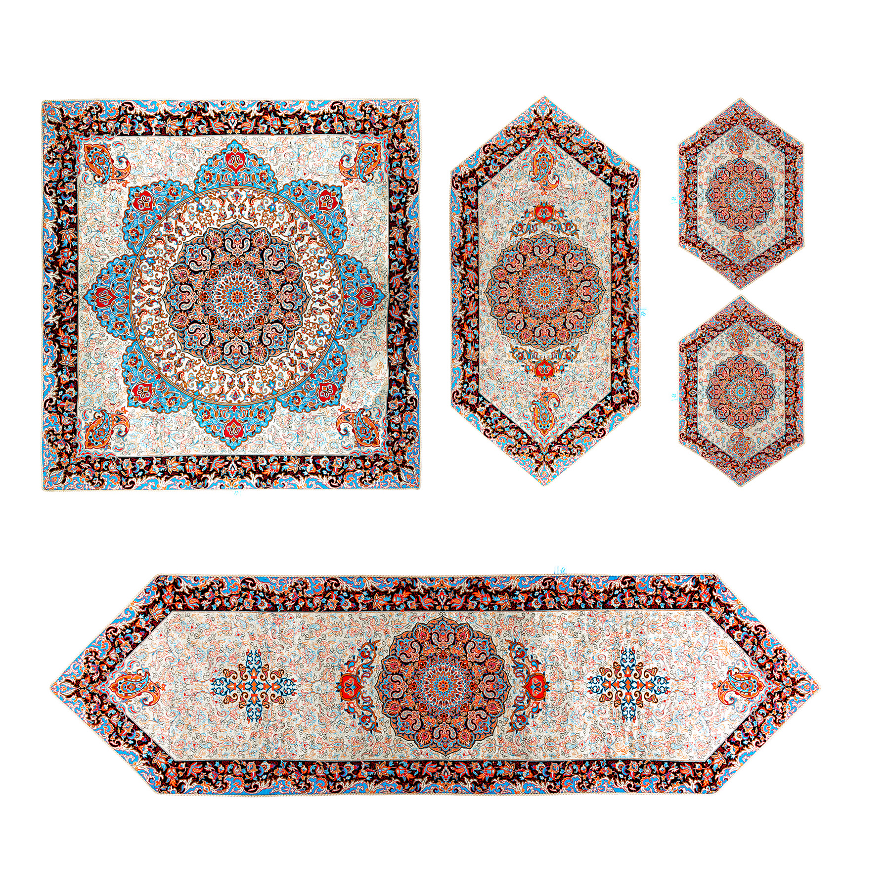 5 PCS Melita cashmere tablecloth, Shamseh Model