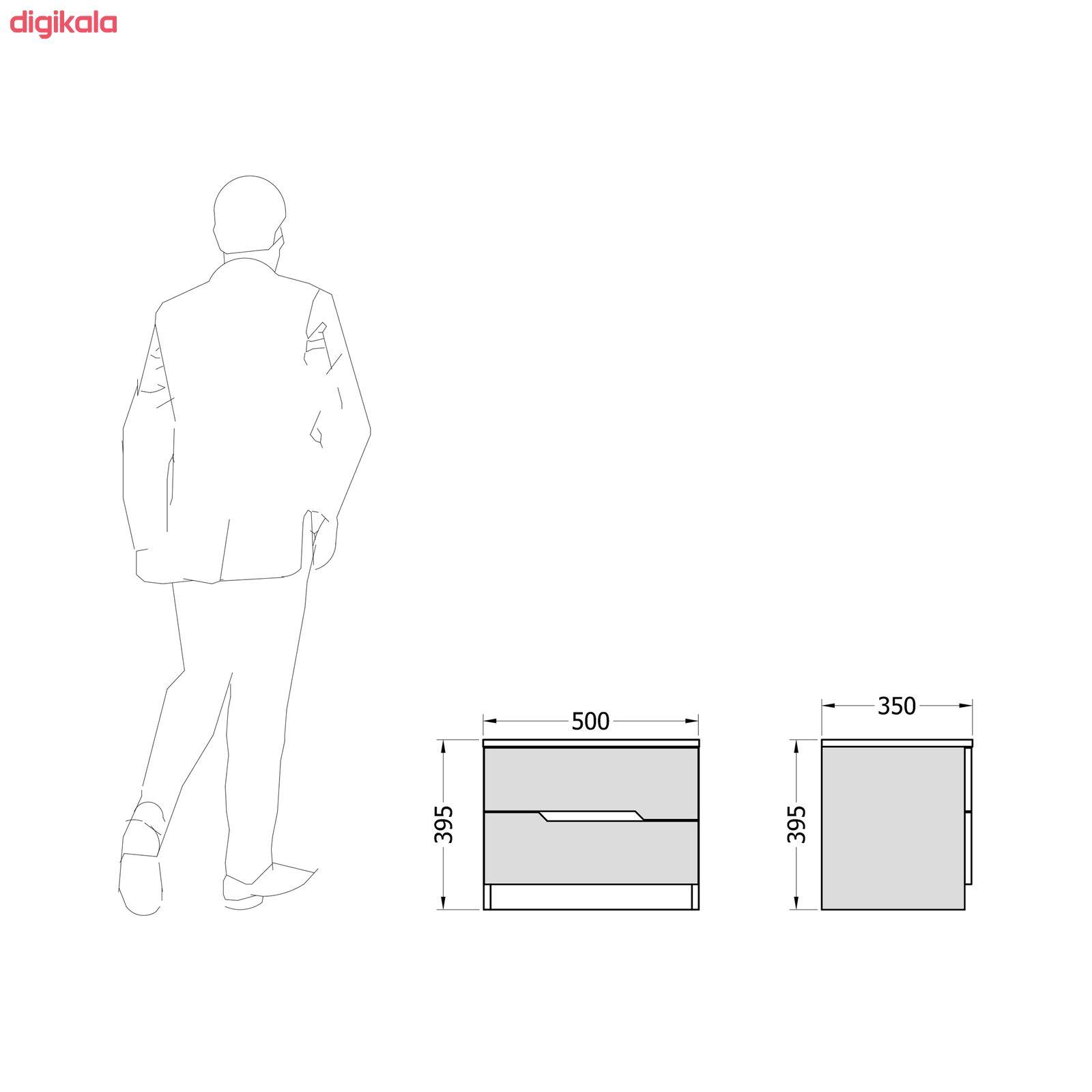 میز پاتختی مدل لوکا کد JP-2K-S03 main 1 3