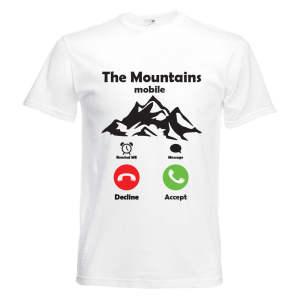 تیشرت آستین کوتاه ورزشی بچگانه طرح کوه کد KT0293