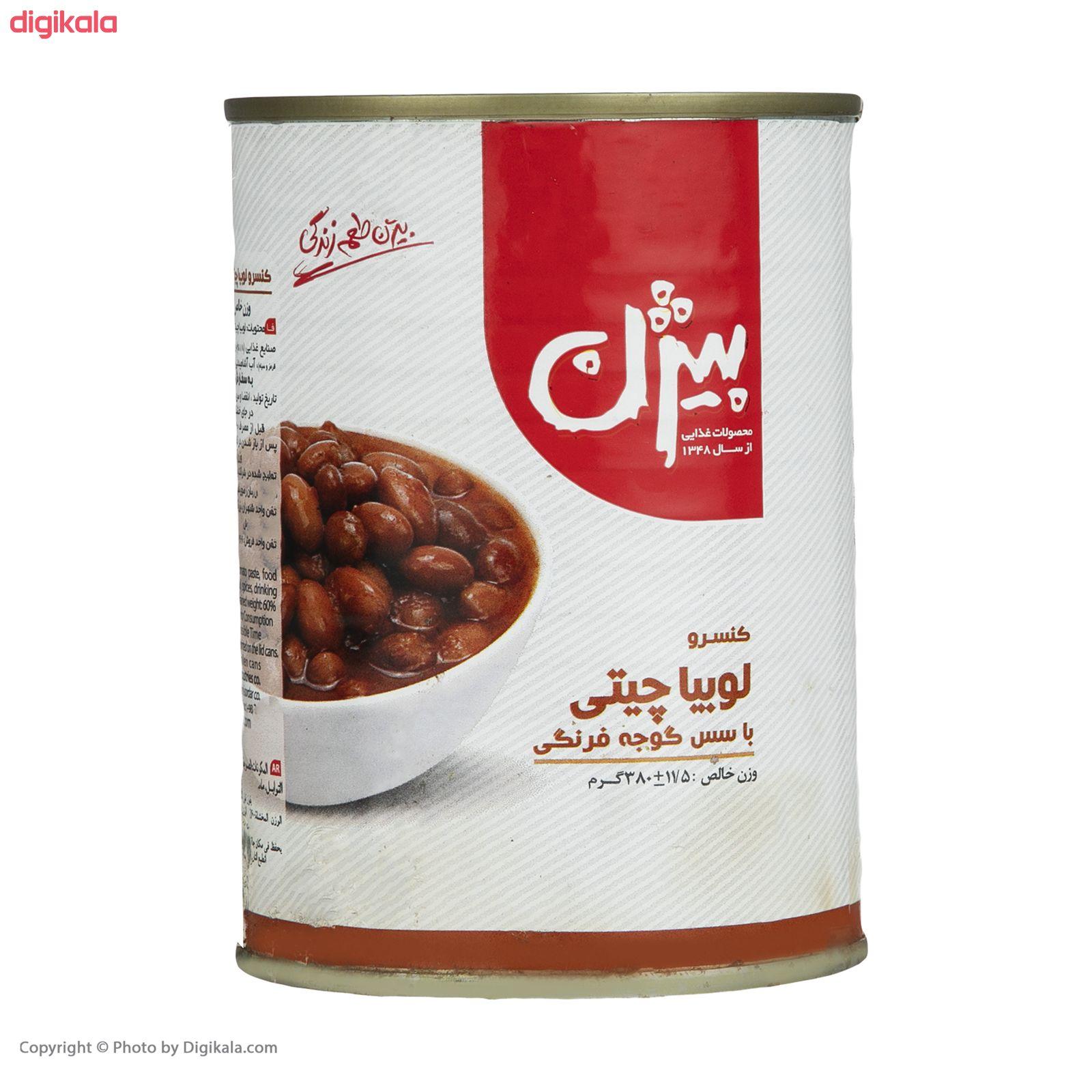 کنسرو لوبیا چیتی با سس گوجه فرنگی بیژن - 380 گرم  main 1 2