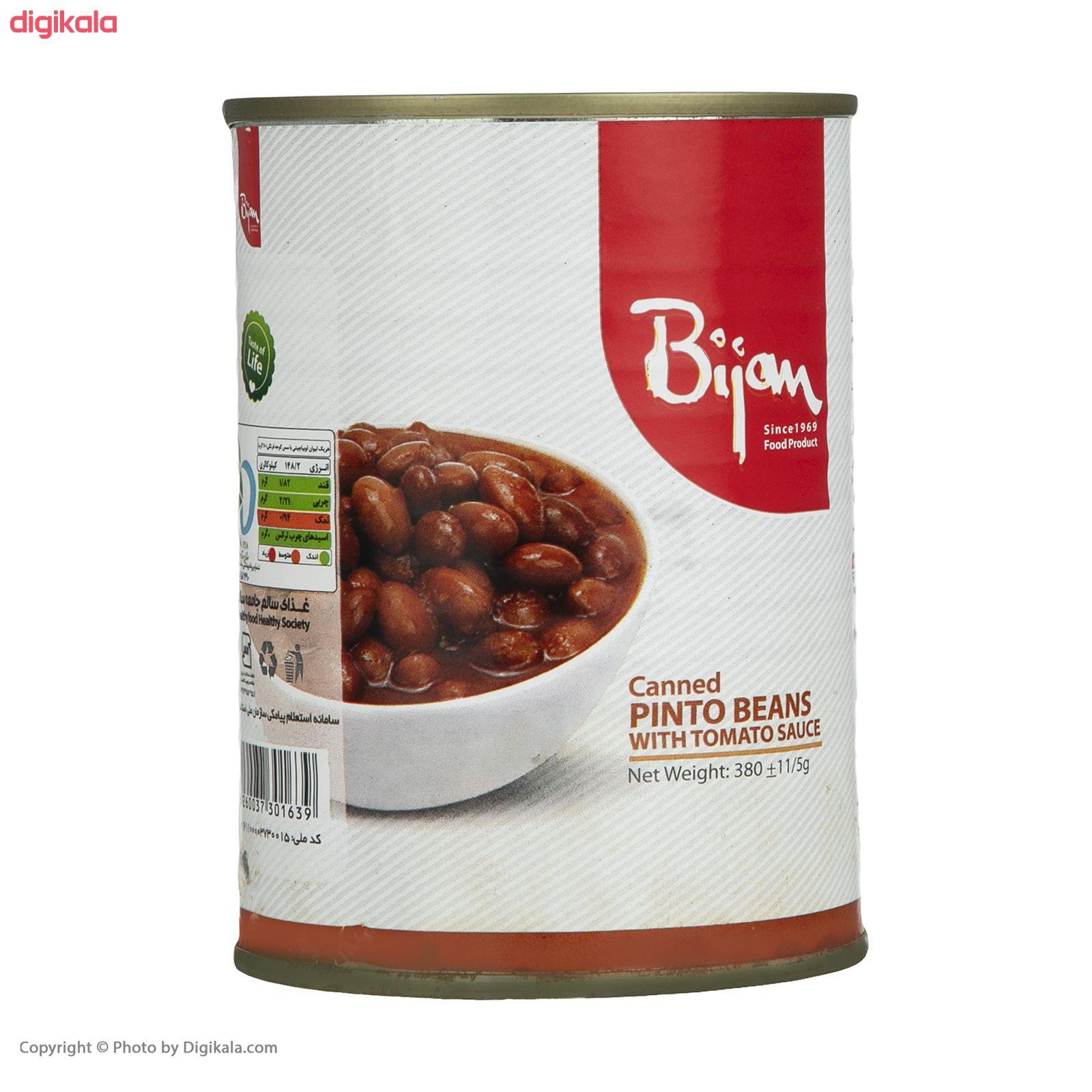 کنسرو لوبیا چیتی با سس گوجه فرنگی بیژن - 380 گرم  main 1 3