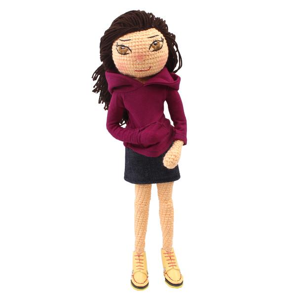 عروسک بافتنی پریا مدل Pari02