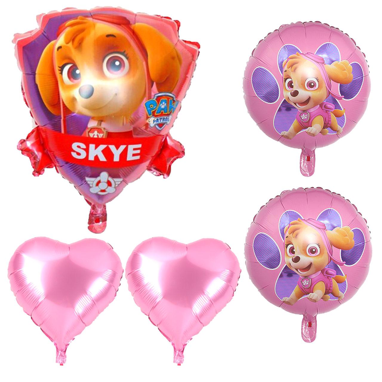 بادکنک فویلی طرح سگ های نگهبان Skye مجموعه 5 عددی