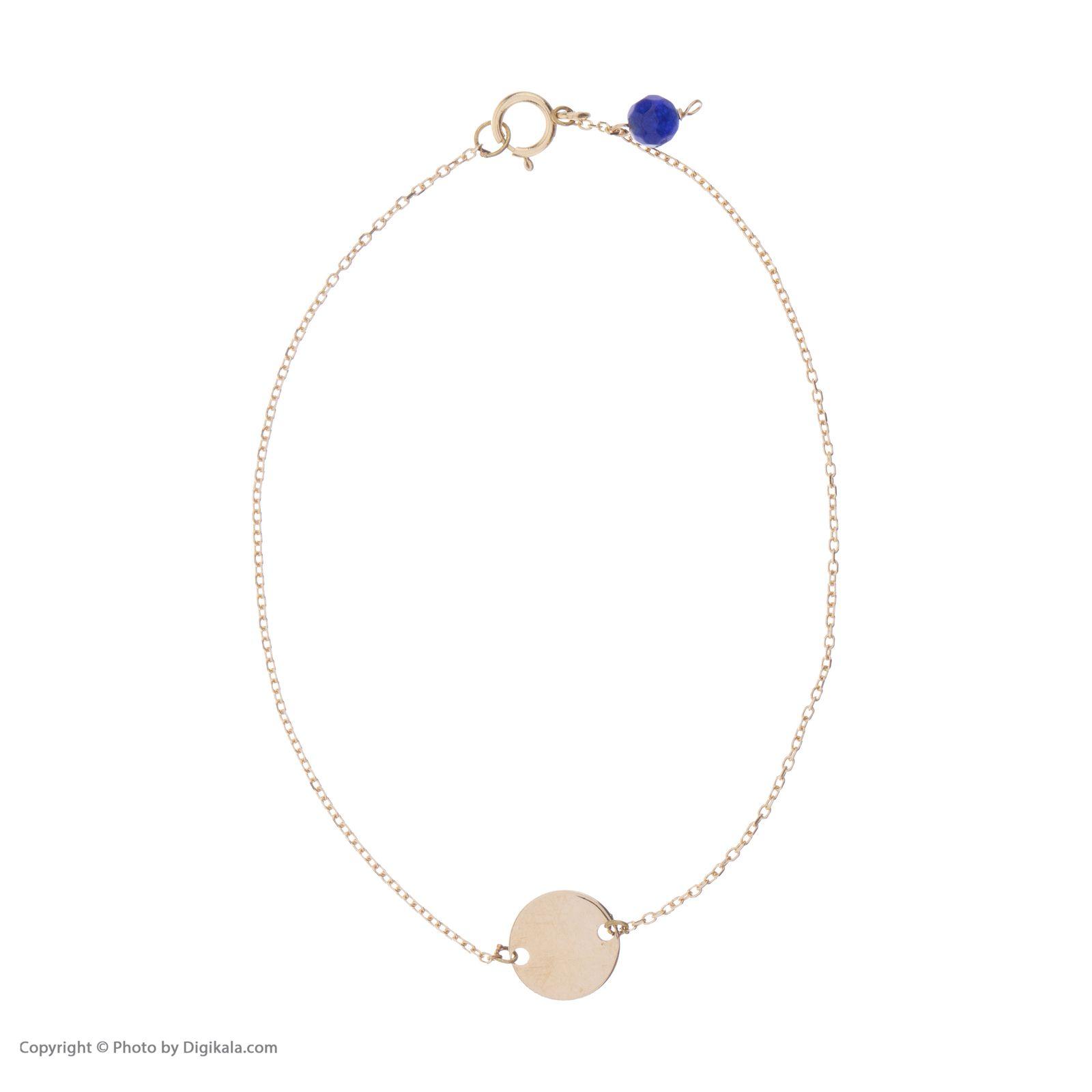 دستبند طلا 18 عیار زنانه نیوانی مدل DA628  -  - 1