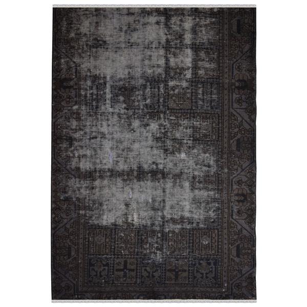 فرش دستبافت رنگ شده دو و نیم متری طرح وینتج کد 13958