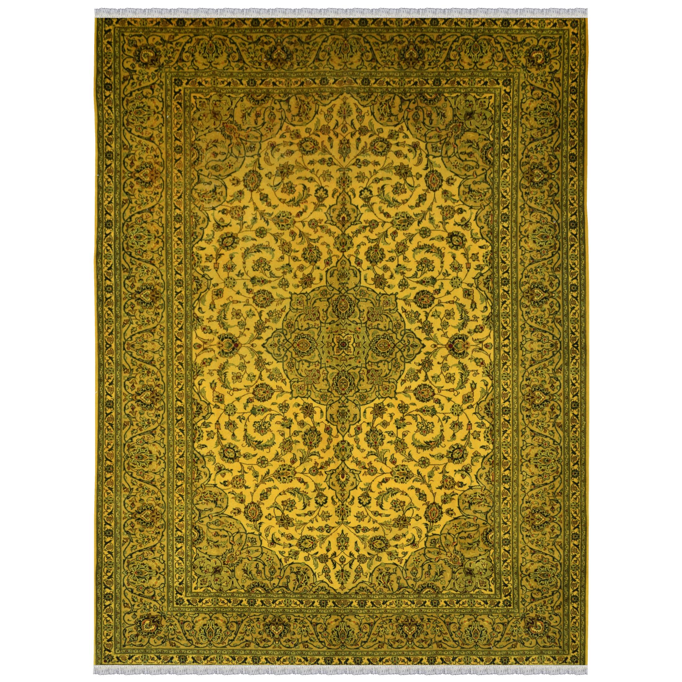 فرش دستبافت رنگ شده یازده متری طرح وینتج کد 981201