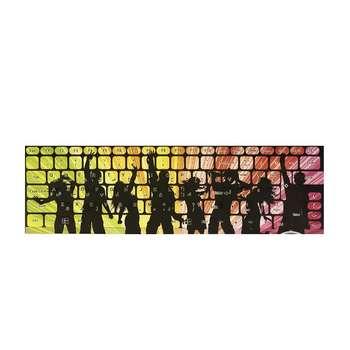 برچسب حروف فارسی کیبورد طرح پارتی کد 15