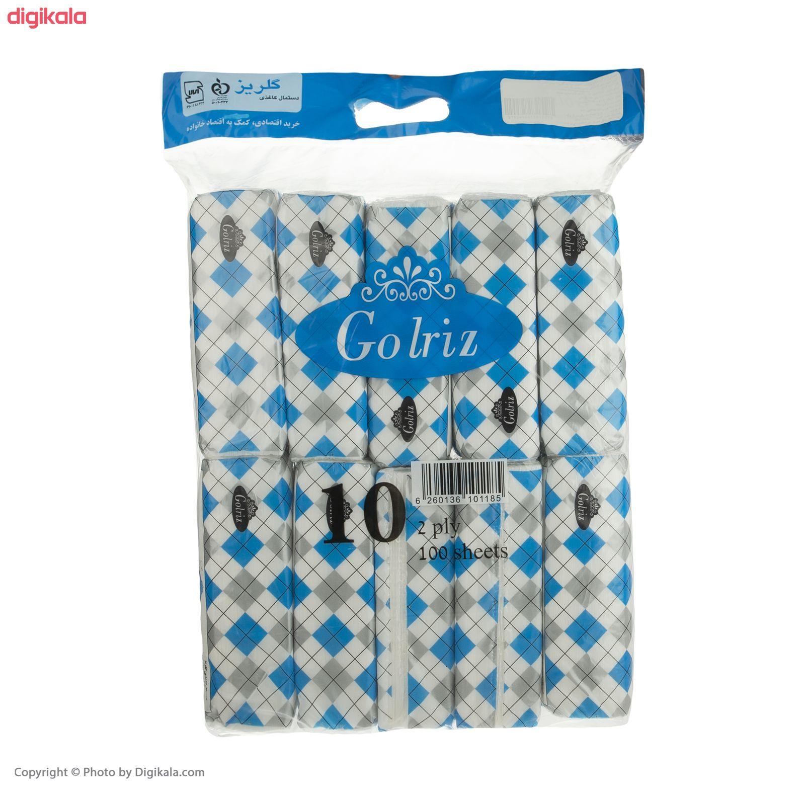 دستمال کاغذی 100 برگ گلریز مدل دياموند بسته 10 عددي  main 1 9