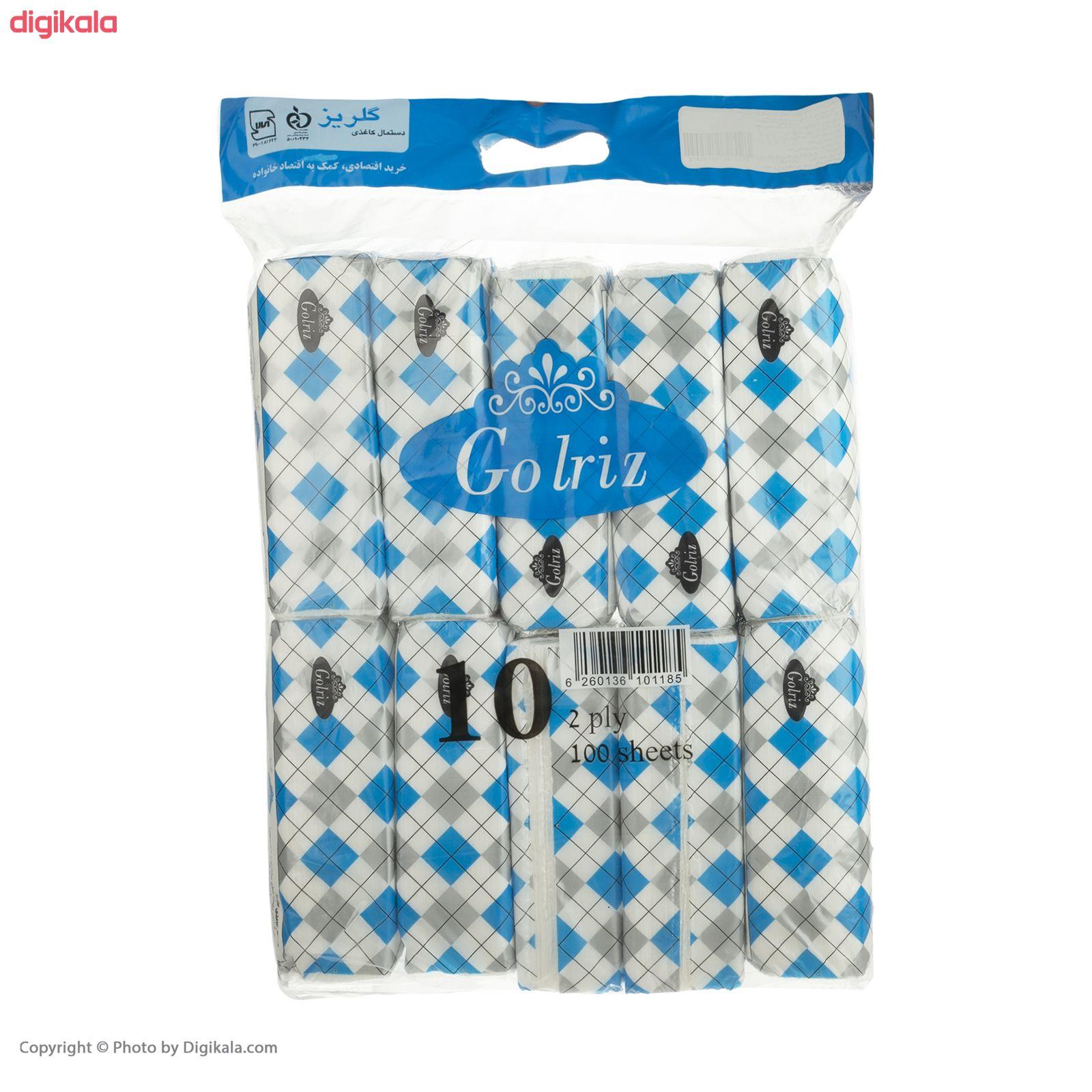 دستمال کاغذی 100 برگ گلریز مدل دياموند بسته 10 عددي  main 1 7