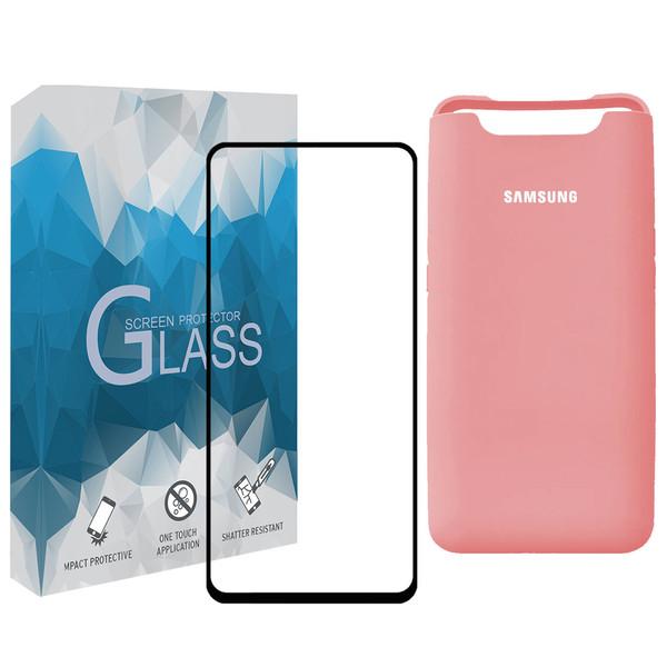 کاور مدل SLCN_02 مناسب برای گوشی موبایل سامسونگ Galaxy A80 / A90 به همراه محافظ صفحه نمایش