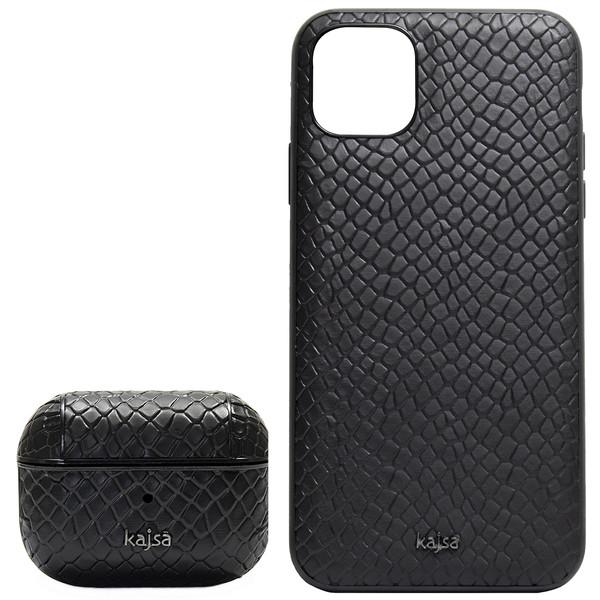 کاور کاجسا مدل Pearl مناسب برای گوشی موبایل اپل IPhone 11 به همراه کیس اپل ایرپاد پرو