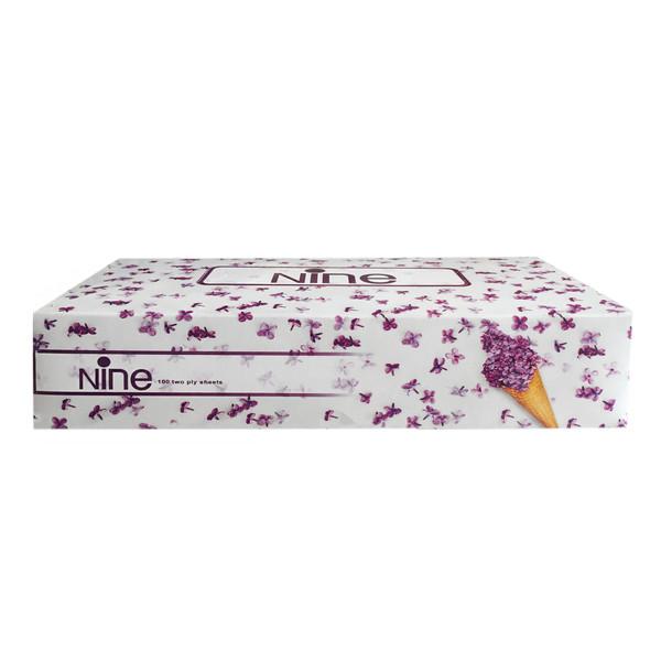 دستمال کاغذی 200 برگ ناین طرح گل ها