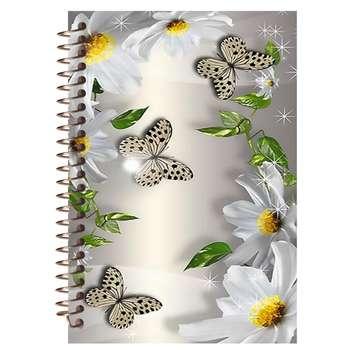 دفتر لغت مشایخ مدل گل و پروانه کد 9013
