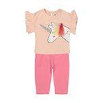 ست تی شرت و شلوار دخترانه رابو مدل 2051127-81 thumb