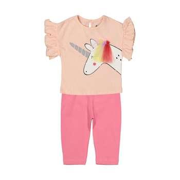 ست تی شرت و شلوار دخترانه رابو مدل 2051127-81