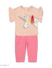 ست تی شرت و شلوار دخترانه رابو مدل 2051127-81 -  - 1