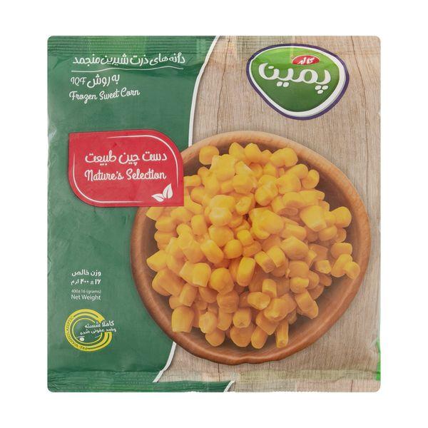 دانه ذرت شیرین منجمد پمینا مقدار 400 گرم