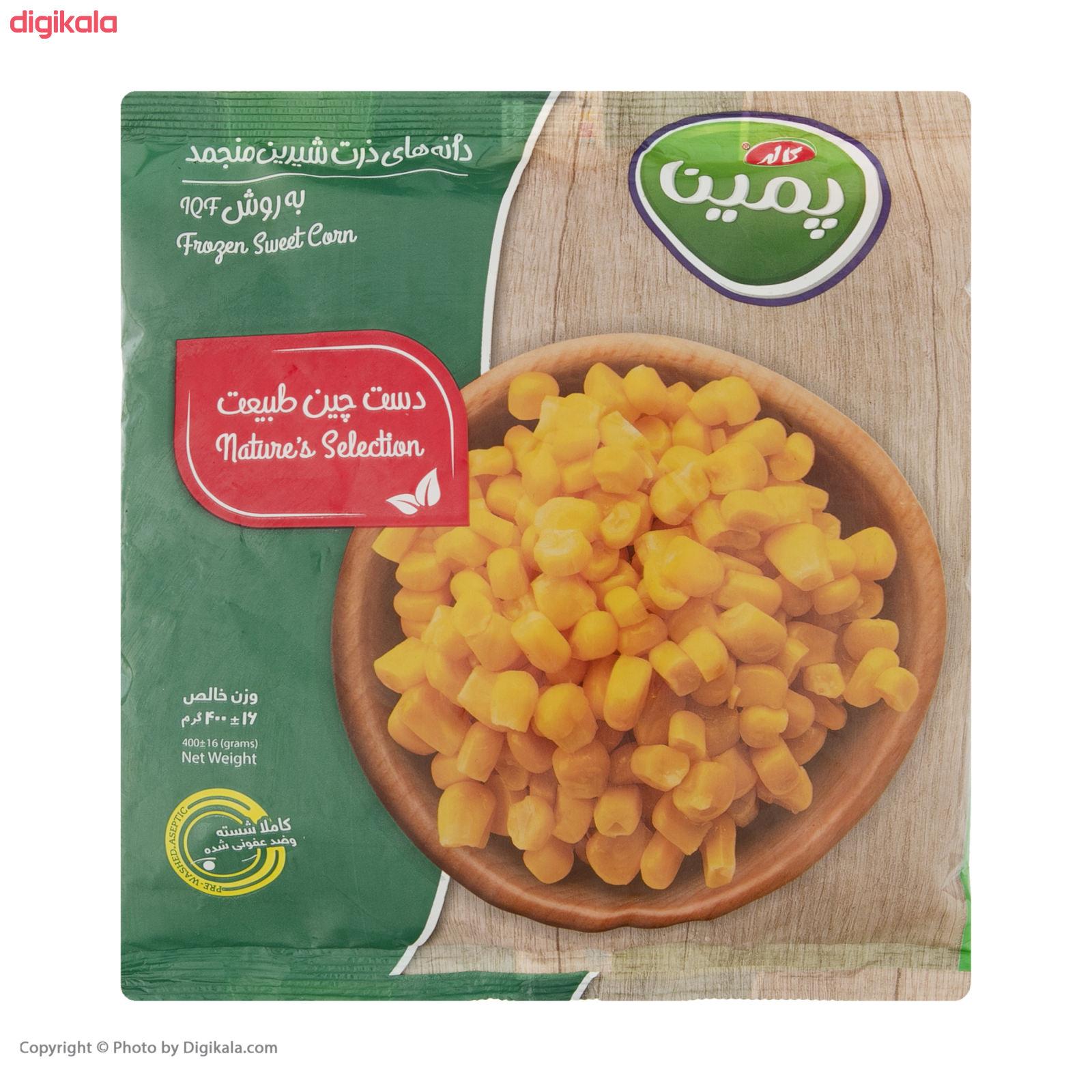 دانه ذرت شیرین منجمد پمینا مقدار 400 گرم main 1 6