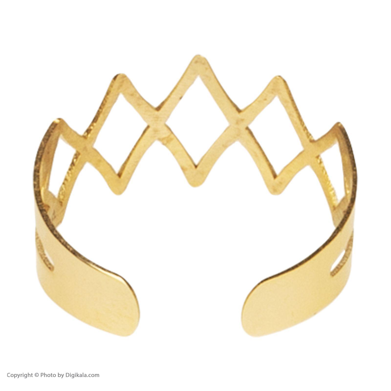 انگشتر طلا 18 عیار زنانه نیوانی مدل NR008  -  - 2