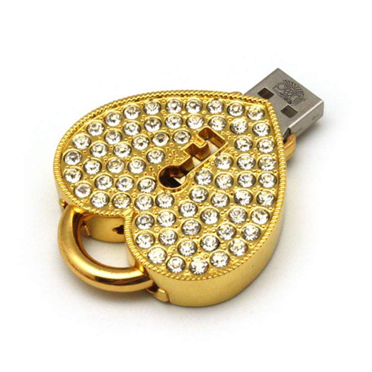 خرید اینترنتی فلش مموری پرلیت یو اس بی طرح قفل قلبی کد w-49 ظرفیت 16 گیگابایت با قیمت مناسب