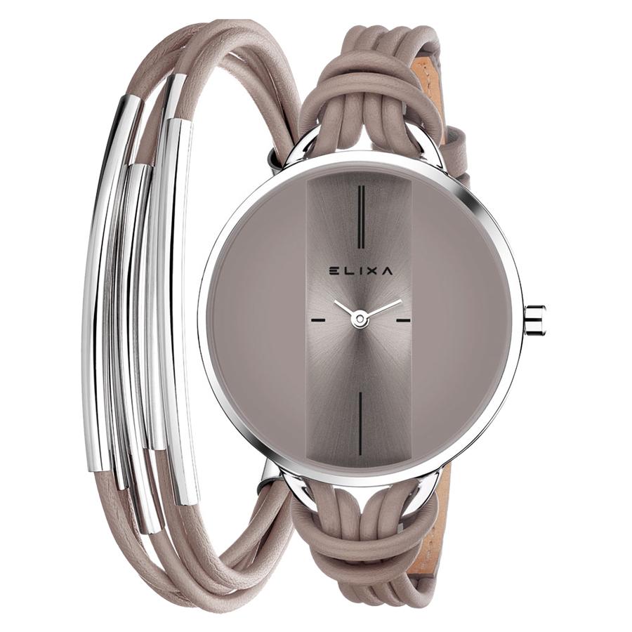 ست دستبند و ساعت مچی عقربه ای زنانه الیکسا مدل E096-L375              ارزان