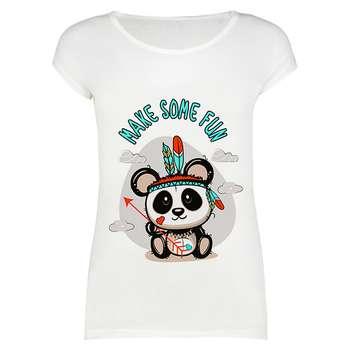 تیشرت زنانه طرح Make some fun panda کد 1000004