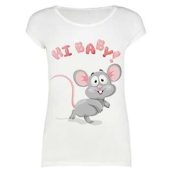 تی شرت زنانه طرح Hi baby Mice کد 1000018