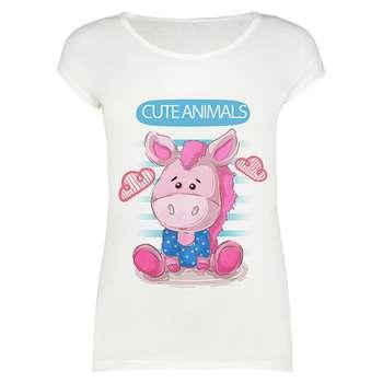 تی شرت زنانه طرح cute animals کد 1000017