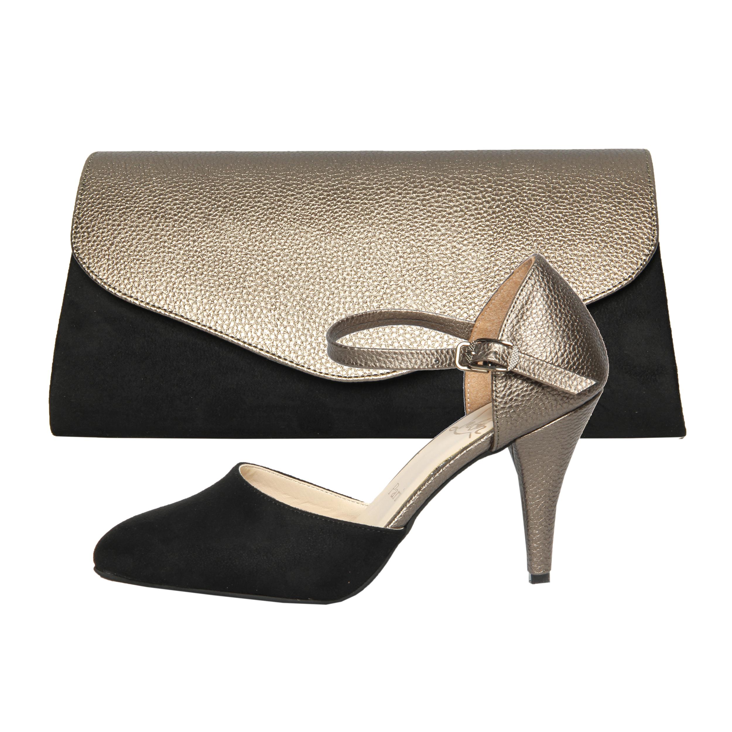 ست کیف و کفش زنانه کد st470 رنگ پلاتینی