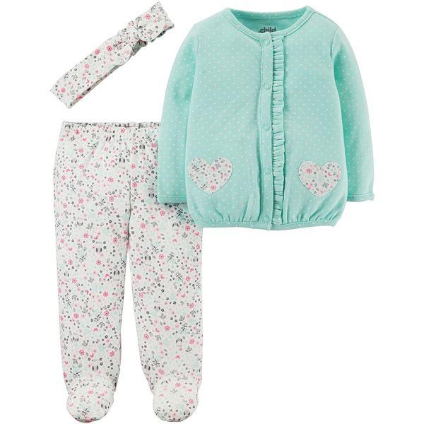 ست 3 تکه لباس نوزادی دخترانه کارترز کد 014
