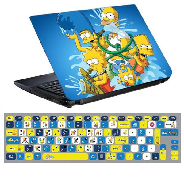 استیکر لپ تاپ طرح سیمپسون ها کد 0220-99 مناسب برای لپ تاپ 15.6 اینچ به همراه برچسب حروف فارسی کیبورد