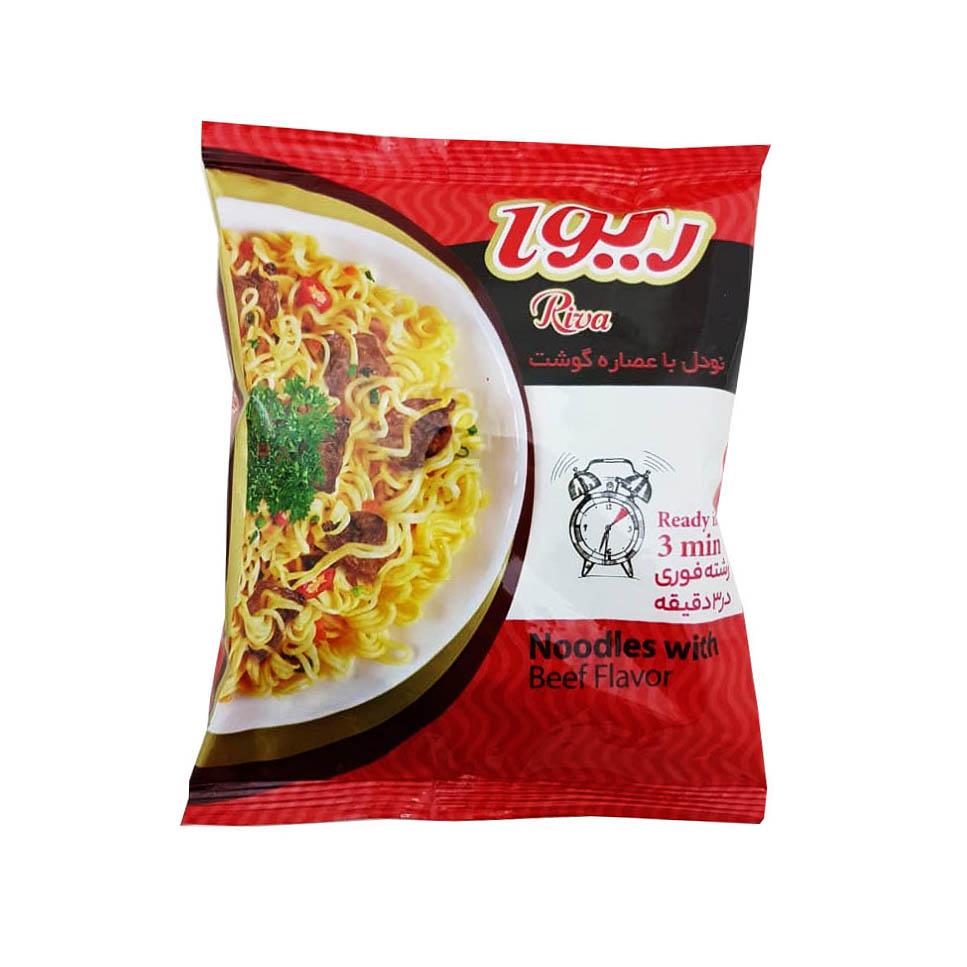 نودل با عصاره گوشت ریوا - 77 گرم