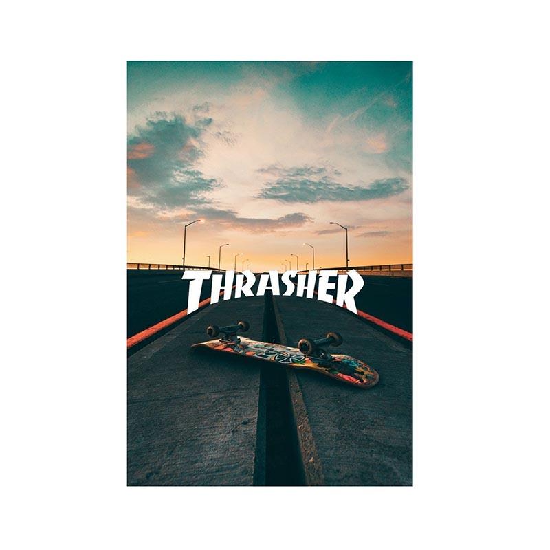 قیمت خرید تابلو شاسی طرح اسکیت برد مدل THRASHER کد 07 اورجینال