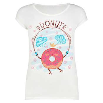 تی شرت زنانه طرح Donut کد 1000039