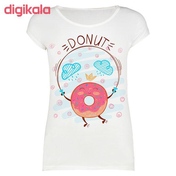 تی شرت زنانه طرح Donut کد 1000039 main 1 1