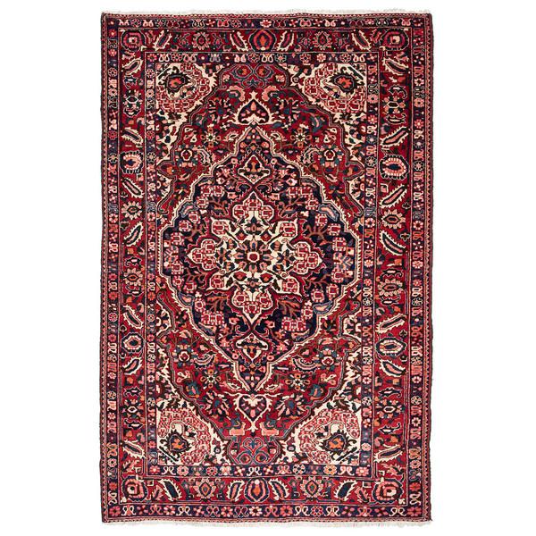فرش دستباف قدیمی چهار متری حیدریان کد 64945