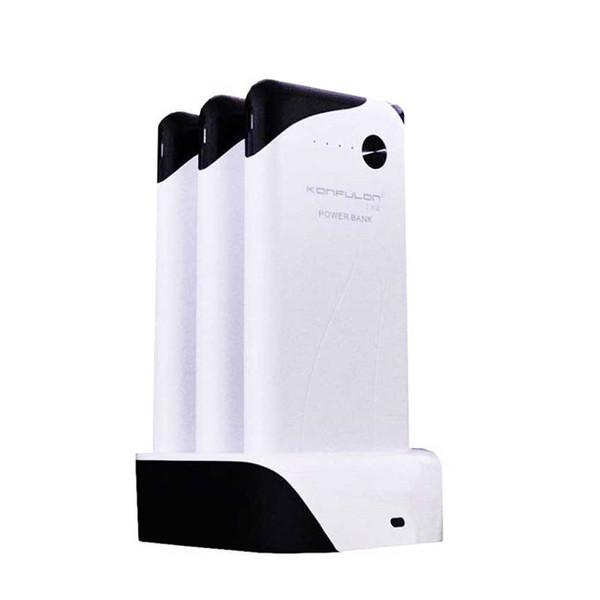 شارژر همراه کانفلون مدل PS-01 ظرفیت ۳۰۰۰۰ میلی آمپر ساعت بسته سه عددی