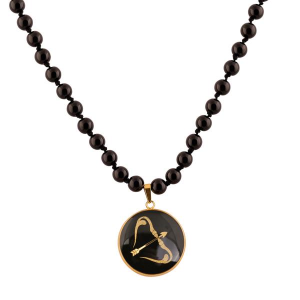 گردنبند طلا 24 عیار زنانه الون طرح نماد ماه آذر