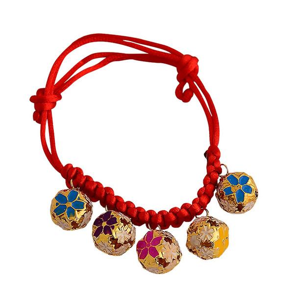 زنگوله گردنی پنج تایی سگ و گربه مدل Colorful Bells Collar