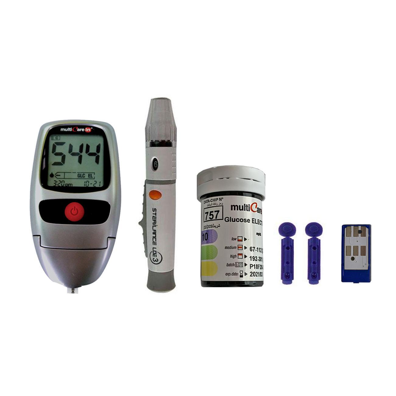 دستگاه تست قند خون  بی اس آی مدل MulticareIN