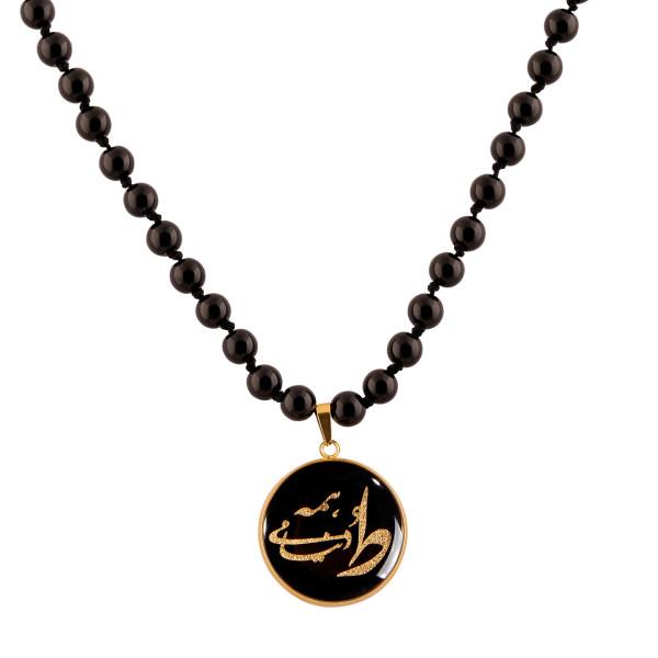 گردنبند طلا 24 عیار زنانه الون طرح ط همه دنیامی