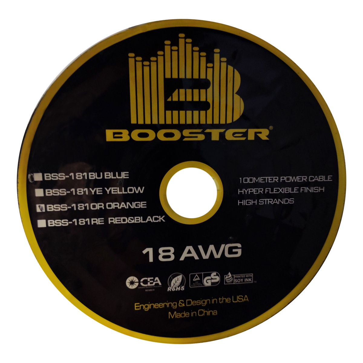 خرید اینترنتی کابل آمپلی فایر خودرو بوستر مدل BSS-181OR اورجینال